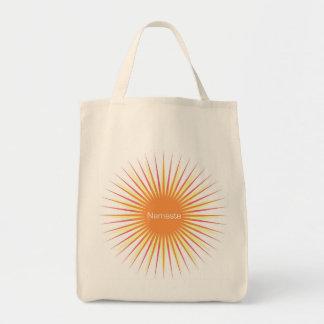 sol del namaste bolsa tela para la compra