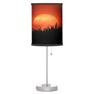 Sol del naranja de la lámpara