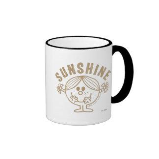 Sol del oro taza de café