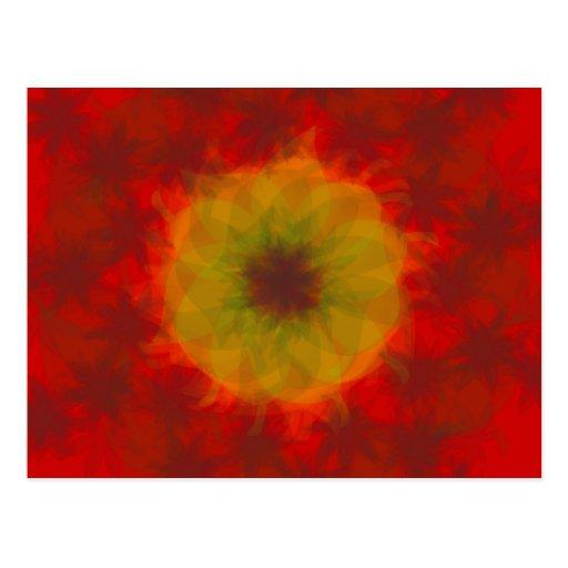 sol del otoño tarjeta postal
