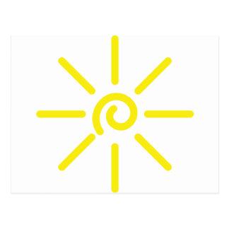 sol del sol tarjeta postal