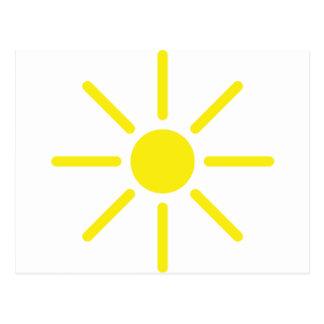 sol del sol tarjetas postales