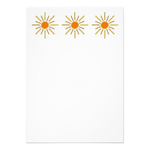 Sol del verano. Amarillo y naranja