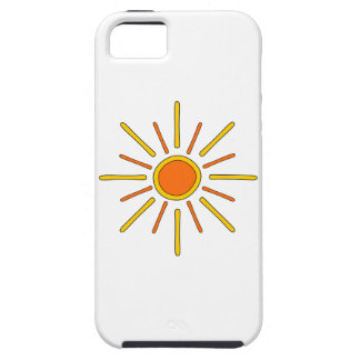 Sol del verano. Amarillo y naranja iPhone 5 Case-Mate Cárcasas