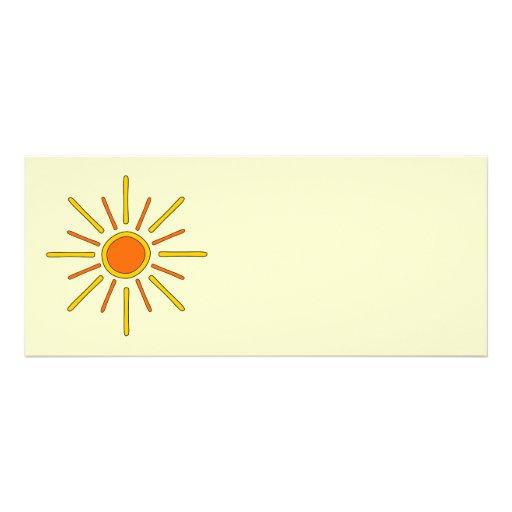 Sol del verano. Amarillo y naranja Invitación Personalizada