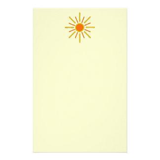 Sol del verano. Amarillo y naranja Papeleria