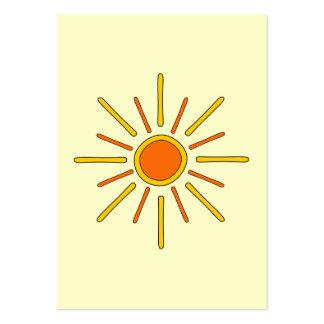 Sol del verano. Amarillo y naranja Tarjetas De Visita Grandes