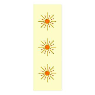 Sol del verano. Amarillo y naranja Tarjetas De Visita Mini