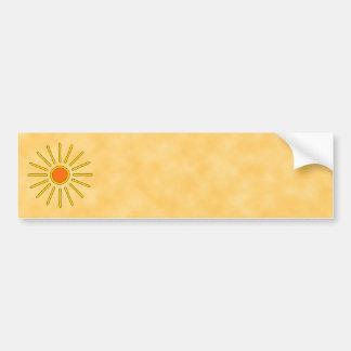 Sol del verano. Colores amarillos calientes Etiqueta De Parachoque