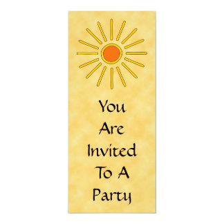 """Sol del verano. Colores amarillos calientes Invitación 4"""" X 9.25"""""""