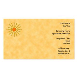 Sol del verano Colores amarillos calientes Tarjetas De Visita