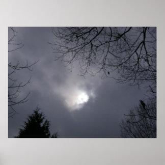 sol detrás de las nubes impresiones