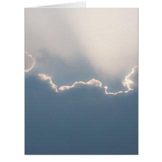 Sol detrás de las nubes tarjeta de felicitación grande