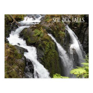 Sol Duc Falls Travel Postcard