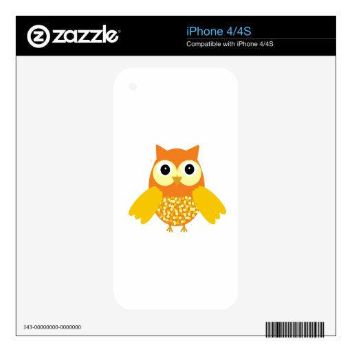 Sol el búho adorable skins para eliPhone 4
