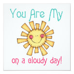 Sol en un día nublado invitación 13,3 cm x 13,3cm