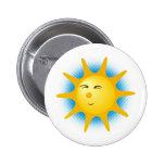 Sol feliz - botón pin