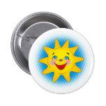 Sol feliz - botón pins