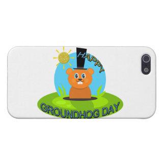 Sol feliz del día de la marmota iPhone 5 carcasa