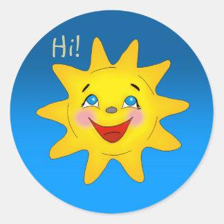 Sol feliz - pegatina