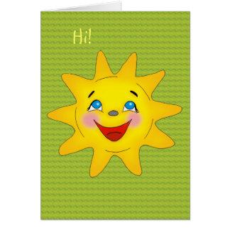 Sol feliz - plantilla de la tarjeta