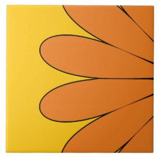 Sol floral - naranja azulejo