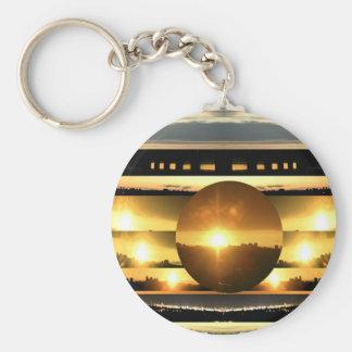 SOL - fuente de energía vital Llavero Redondo Tipo Pin