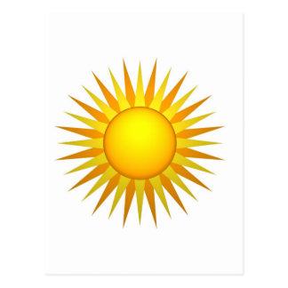Sol ilustrado postal