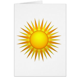 Sol ilustrado tarjeta de felicitación
