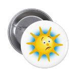 Sol infeliz - botón pins
