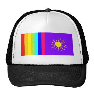 sol intrépido del arco iris gorro de camionero