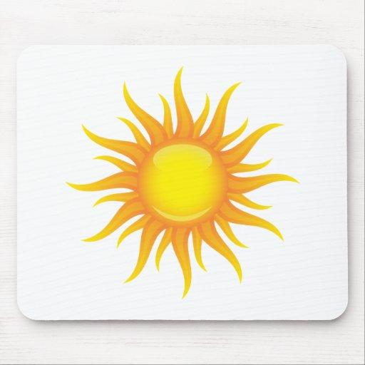 Sol llameante mouse pads