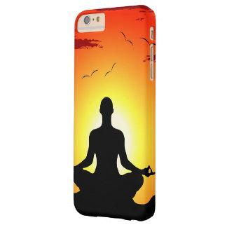 Sol masculina de la meditación de la yoga funda barely there iPhone 6 plus
