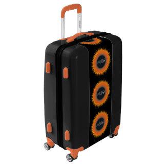 SOL mediano del CAOS de la maleta del equipaje