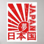 """Sol naciente de """"Japón"""" del vintage con los Póster"""
