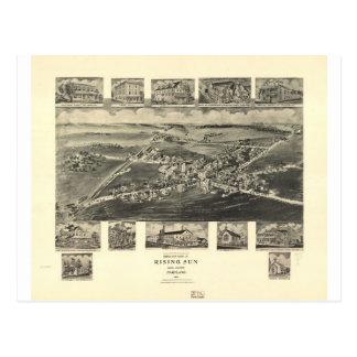 Sol naciente Maryland en 1907 Tarjeta Postal
