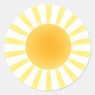 Sol - pegatinas pegatina redonda