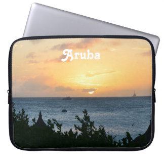 Sol poniente de Aruba Funda Portátil