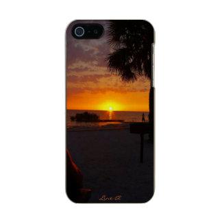 Sol poniente de LineA la Florida Funda Para iPhone 5 Incipio Feather Shine