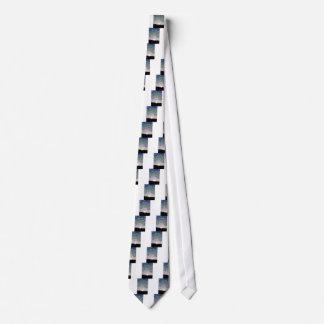 Sol poniente del esmalte corbata personalizada