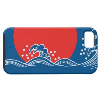 Sol poniente en el diseño azul iPhone5 de las Funda Para iPhone SE/5/5s
