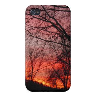 Sol poniente iPhone 4 carcasas