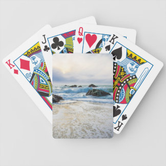Sol poniente y creciente oleada baraja cartas de poker