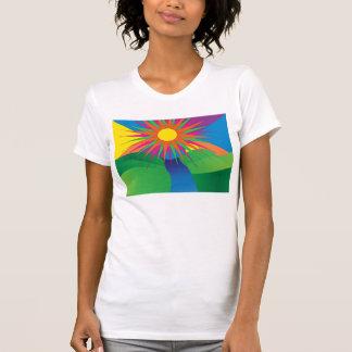 sol psicodélico camisetas