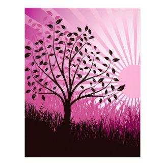 Sol púrpura plantillas de membrete