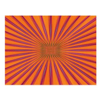 Sol púrpura tarjetas postales