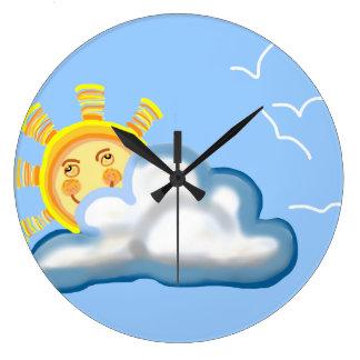 sol reloj redondo grande