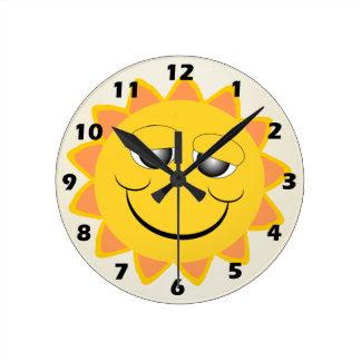 Sol Reloj Redondo Mediano