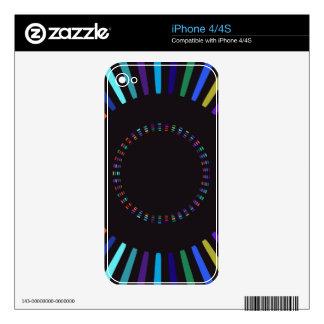 Sol retro de los colores calcomanías para iPhone 4S
