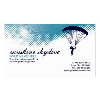 sol skydiving tarjetas de visita